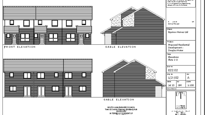 Elevations Plot 1-3