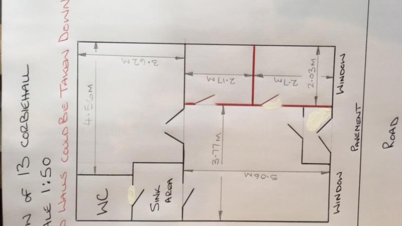 Floor plan of shop to scale of 1:50