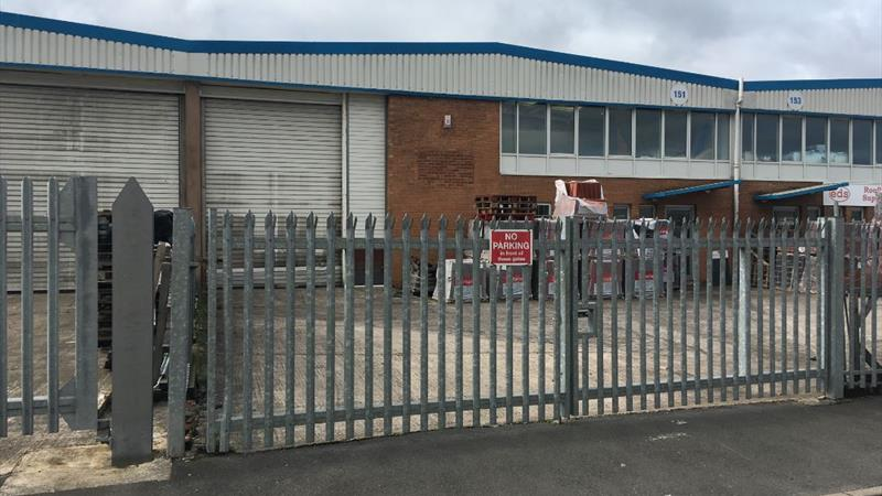 Warehouse Unit With Secure Fence