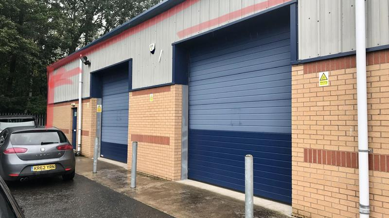 Warehouse With Electric Roller Shutter Doors