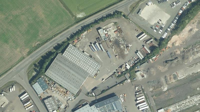 Large Industrial Facility With Yard