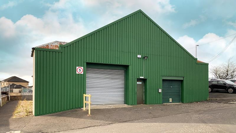 Workshop With High Roller Shutter Door