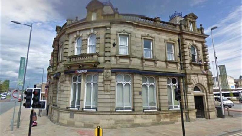 To Let - Former Bank Building in Darwen, Lancs