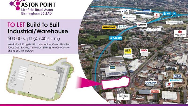 Build to Suit Industrial/Warehouse, Aston Point, B