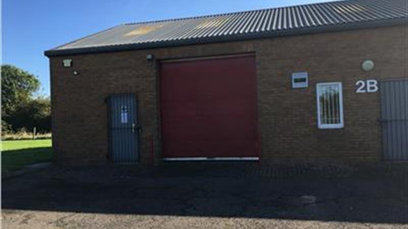 Warehouse With Roller Shutter Door