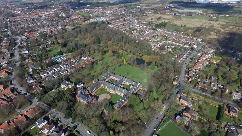 Thwaite Hall and Thwaite Gardens - Aerial View