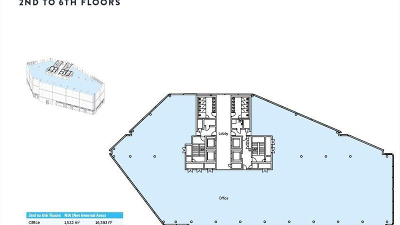 2nd to 6th Floor Plan | 1 Haymarket Square